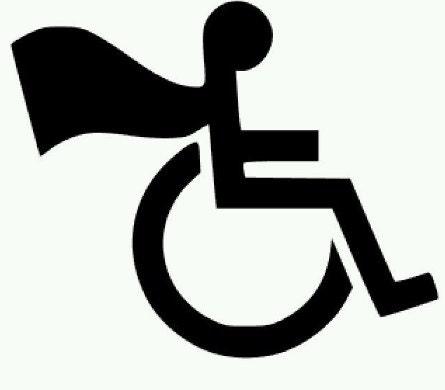 handicap wheelchair superman cape vinyl decal sticker etsy