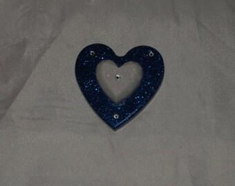 Heart Magnet with Swarovski glitter