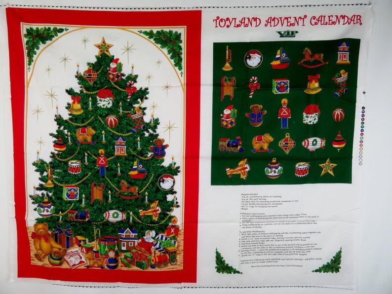 Personnalisé Tissu Santa Advent Calendar tout nom