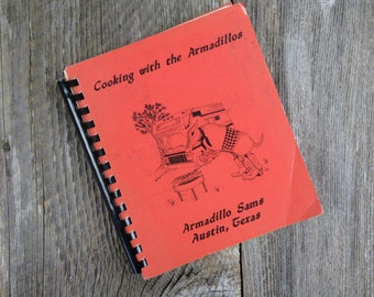 Vintage Texas Cookbook Armadillo Sams Chapter Austin Texas 1989 Camper Club