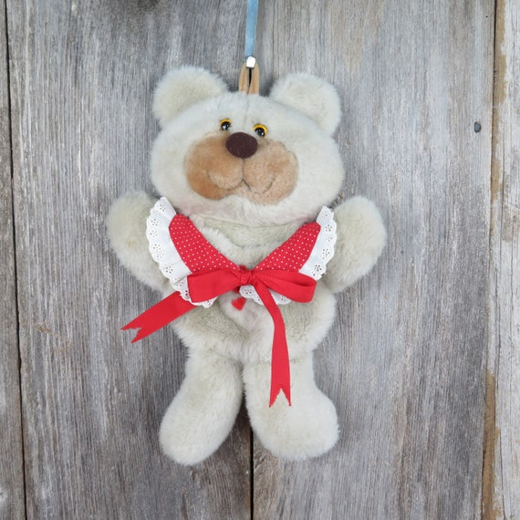 Vintage Christmas Bear Decoration Hallmark Chrismas Stocking Hanger Sleeping Bear