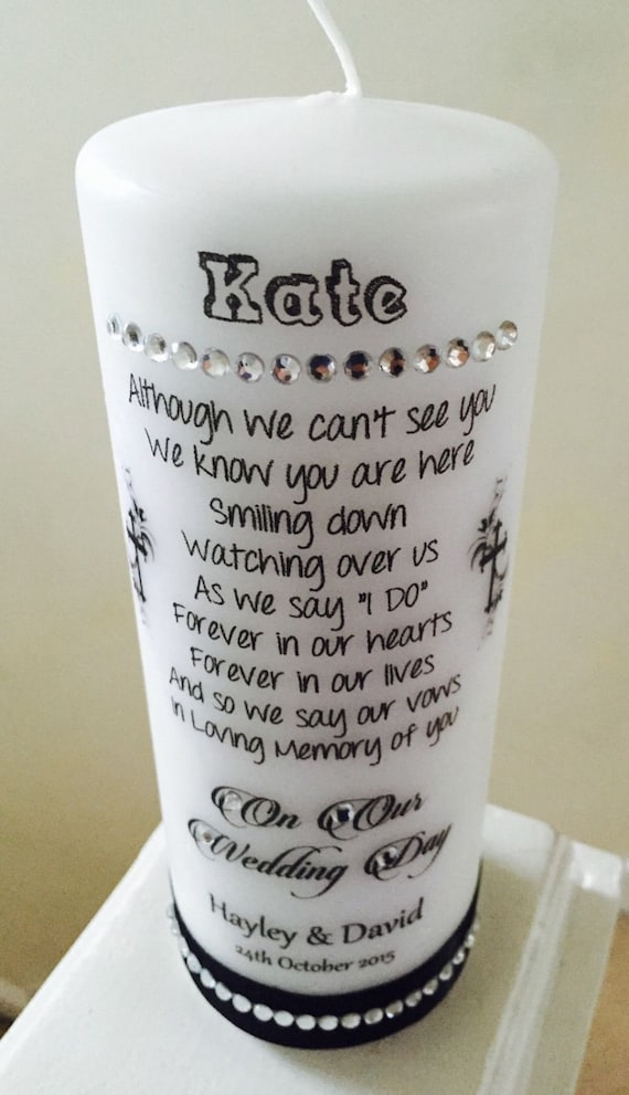 Personalized Wedding Memorial Candles