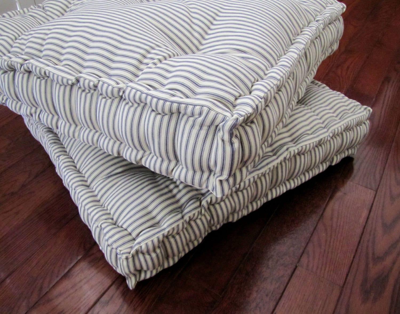 toile matelas sol oreiller coussin de sol capitonn s avec etsy. Black Bedroom Furniture Sets. Home Design Ideas