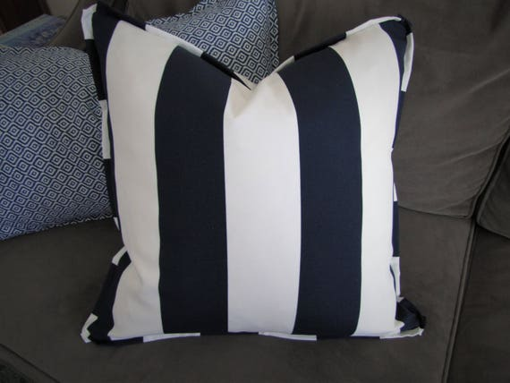 Flanged Throw Pillow Cover Indoor Outdoor Pillow Custom Etsy