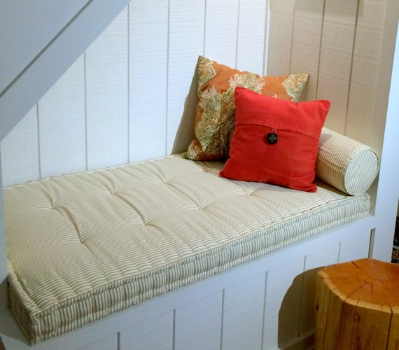 Under Stairs Reading Nook Cushion And Bolster Pillow In