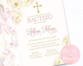 invitations de bautizo etsy