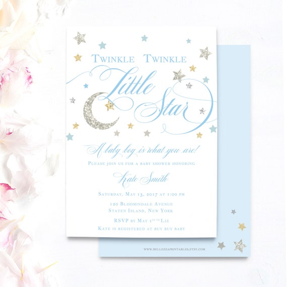 It's just a picture of Free Printable Twinkle Twinkle Little Star Baby Shower Invitations with pink gold
