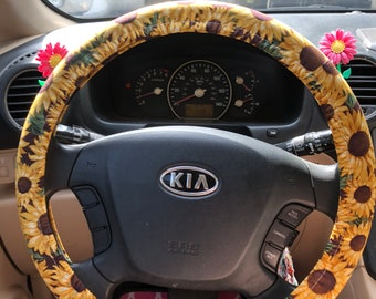 Amazing Sunflower Steering Wheel Cover Etsy Andrewgaddart Wooden Chair Designs For Living Room Andrewgaddartcom