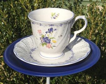 Teacup feeder - tea cup and saucer bird feeder - garden accessories - gift for bird lover - butterfly feeder - vintage china bird feeder