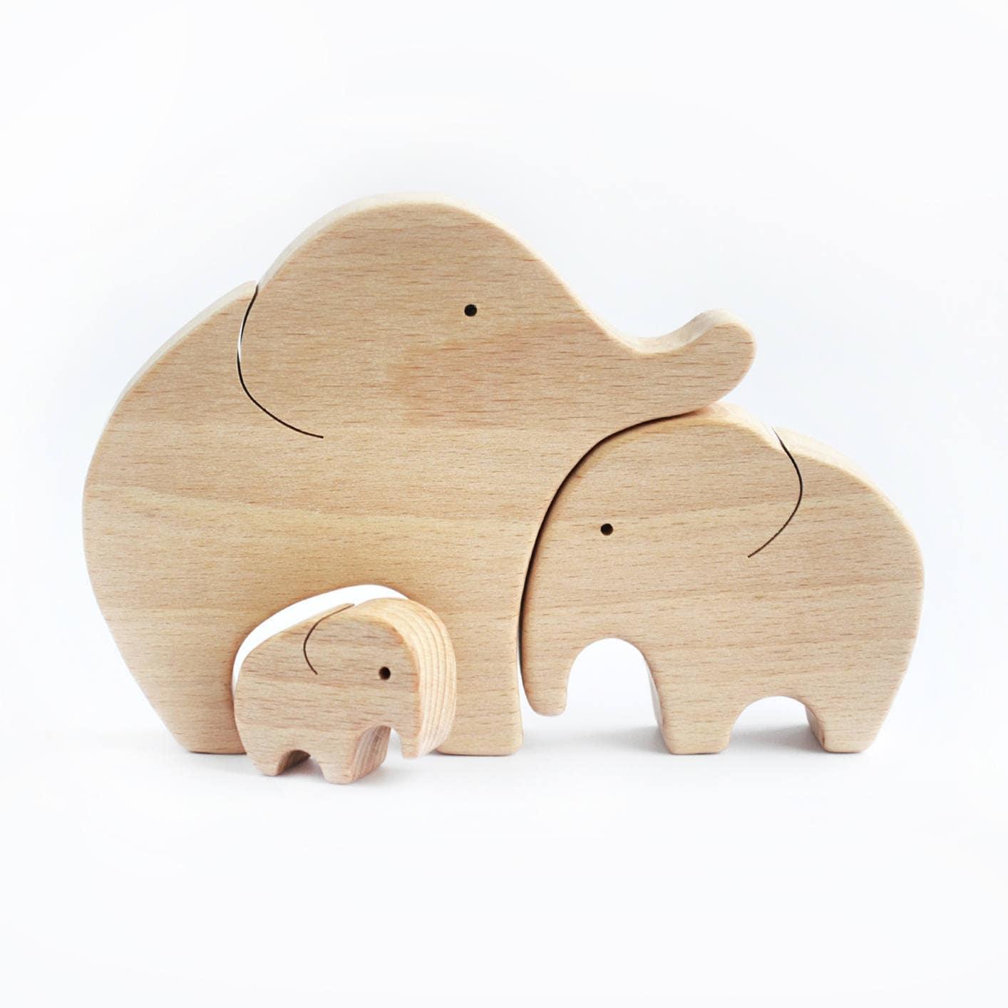 Holz Elefant Rätsel Kinderzimmer Dekor Elefant Spielzeug