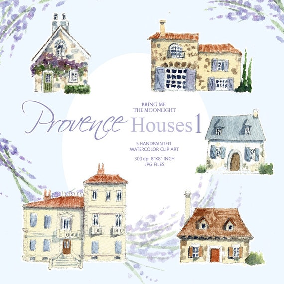 Watercolor Cute Little Houses Clipart French Houses Houses Clipart Png