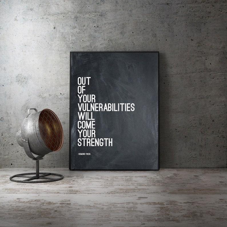 Citaten Uit Literatuur : Sigmund freud citaat uit onze kwetsbaarheden moderne kunst etsy