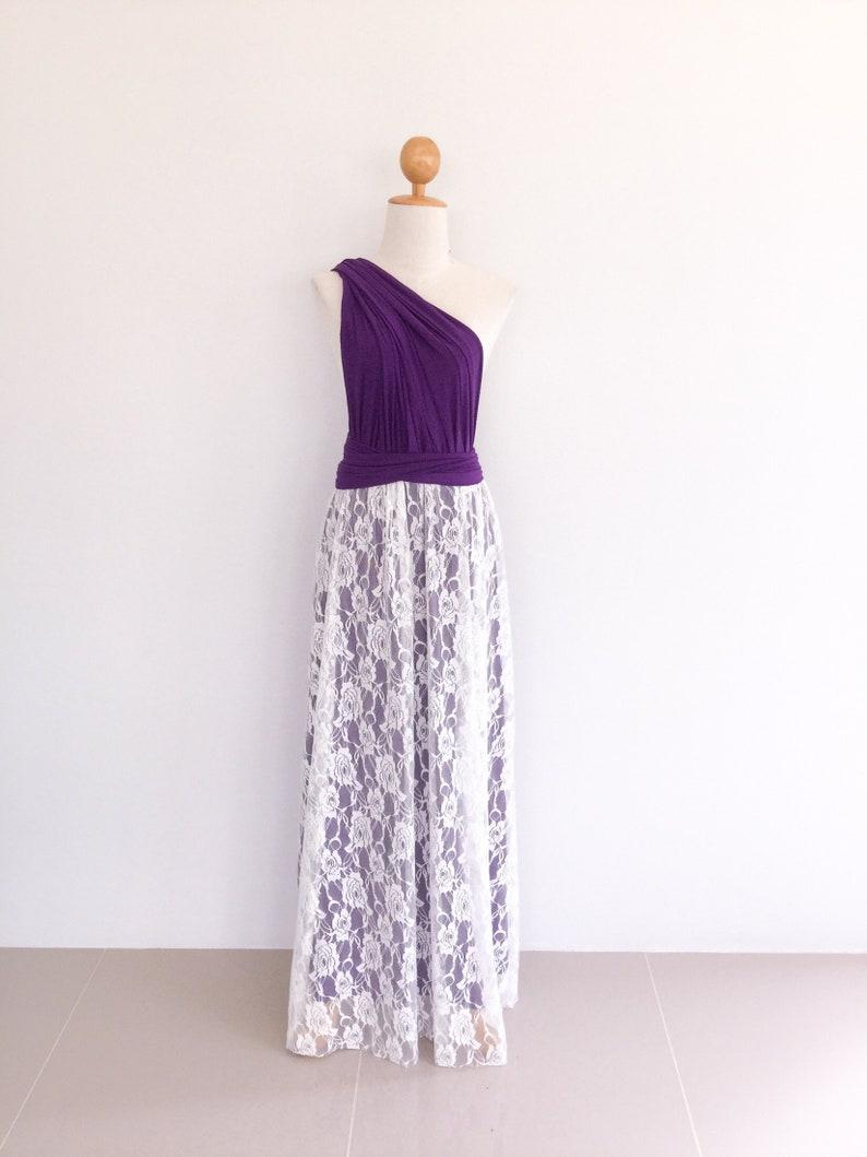 4e5728a4560 Purple Infinity dress   Dark purple with lace overlay Dress