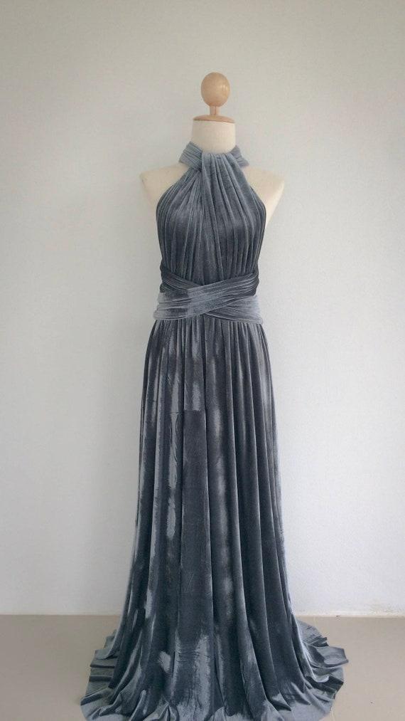 Purple Infinity Convertible Multiway Dress Handmade 1 Size 22-38 inch waist