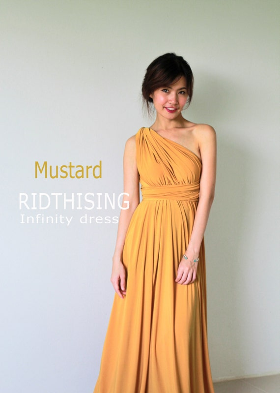 2408d130e81 Maxi Mustard Infinity Dress Bridesmaid Dress Prom Dress