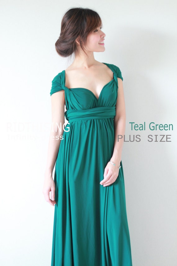 Plus Size Maxi Teal Green Infinity Dress Bridesmaid Dress Prom | Etsy