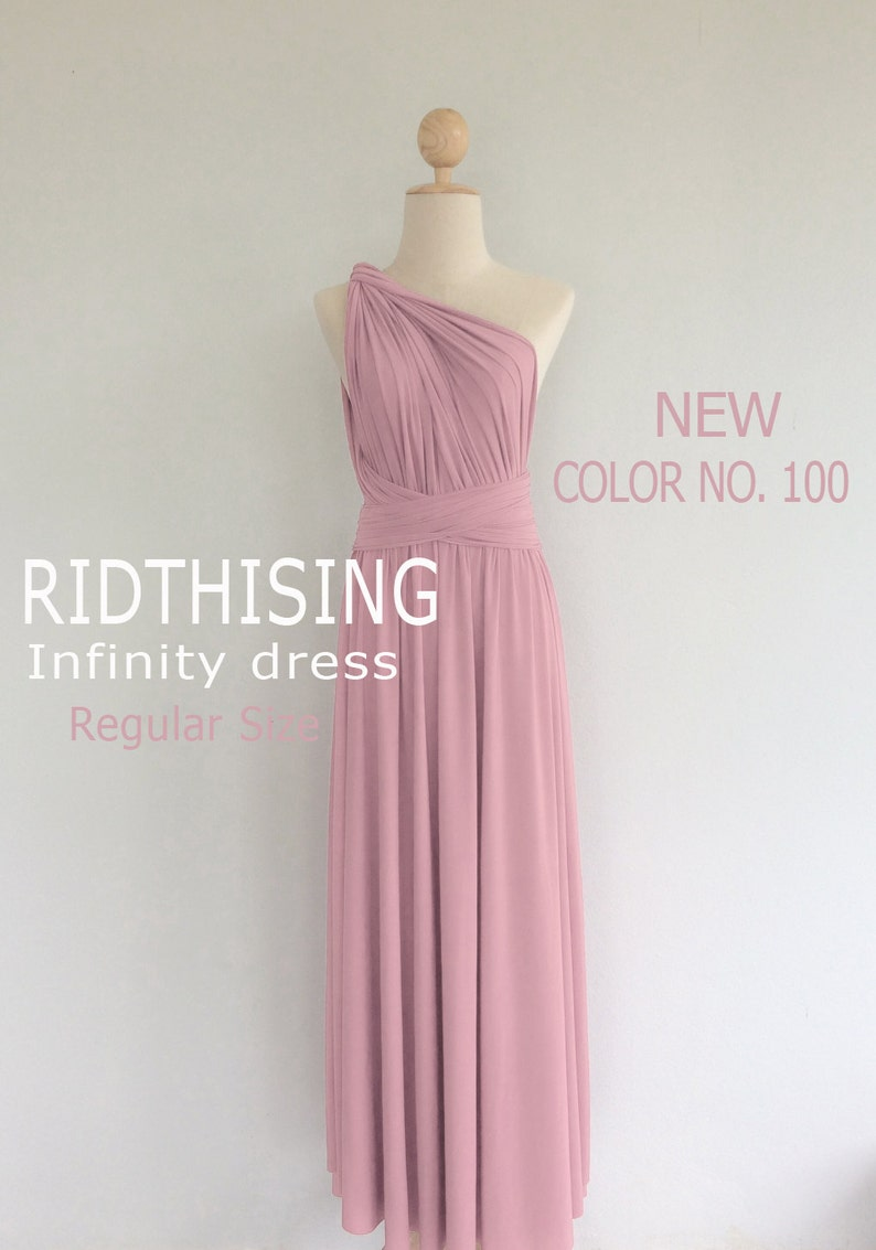 295f5eedee1 Pink Bridesmaid Dress Infinity Dress Prom Dress Convertible