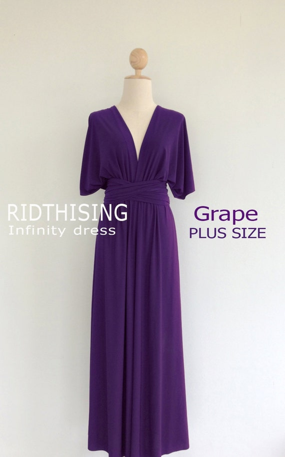 e912bc97393 Plus Size Maxi Grape Infinity Dress Bridesmaid Dress Prom