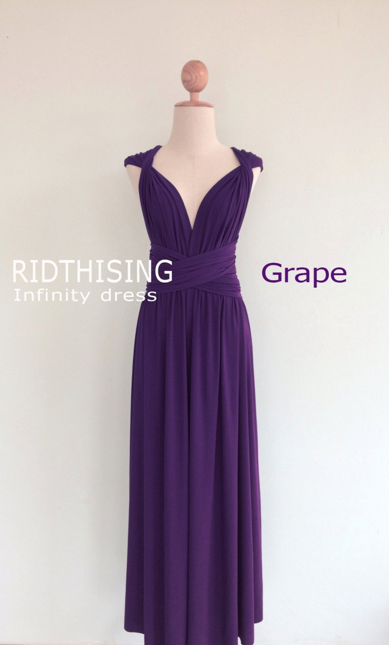 fe9e455f402 Bridesmaid Dress Maxi Grape Infinity Prom Dress Convertible