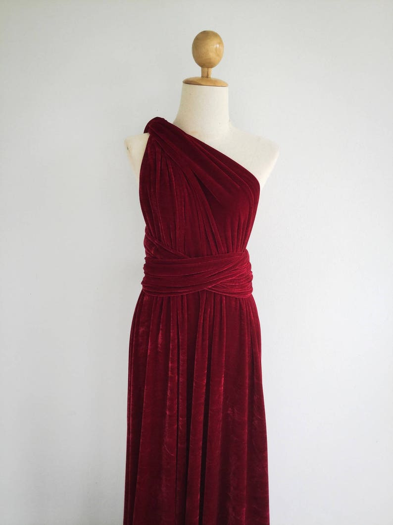 67b64eb69db Plus Size Burgundy Velvet Dress Bridesmaid Dress Maxi