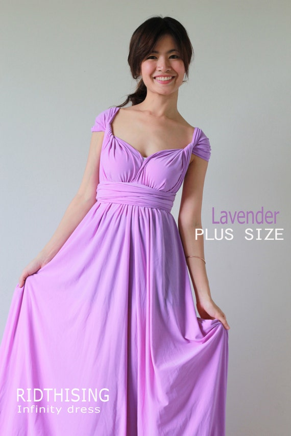 Plus Size Bridesmaid Dress Maxi Lavender Infinity Dress Prom Dress  Convertible Dress Wrap Dress