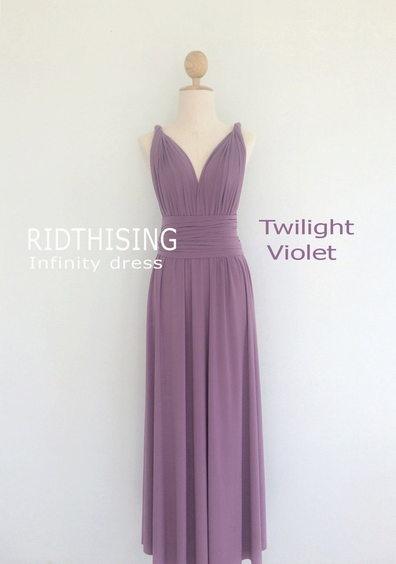 b517a25af08 Maxi Twilight Violet Bridesmaid Dress Infinity Dress Prom