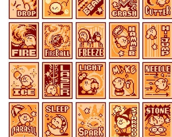 choose from ALL Kirby's Adventure NES Cross Stitch Patterns