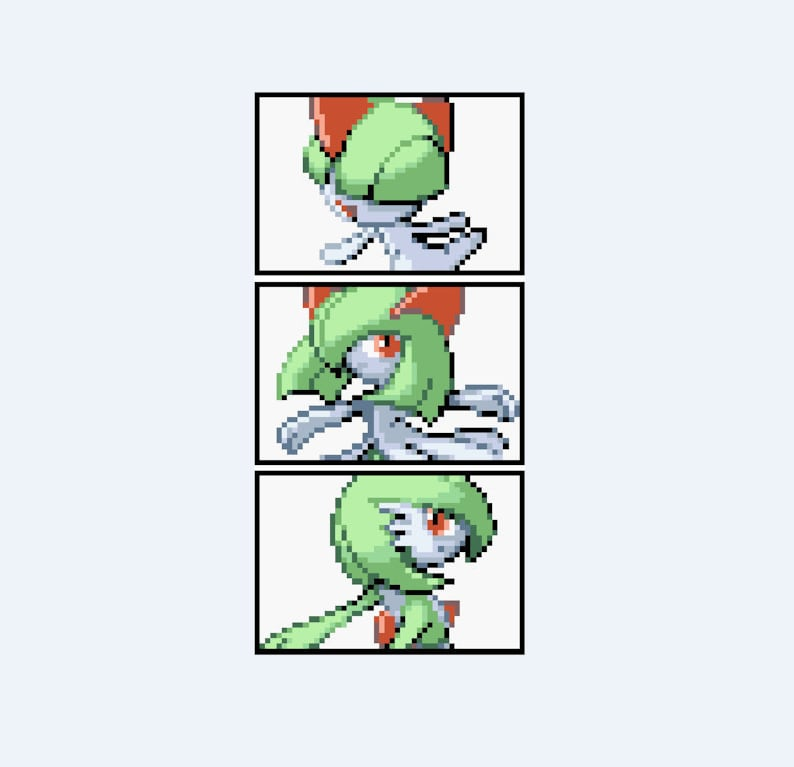 Ralts Kirlia Gardevoir Pokemon Evolution Cross Stitch  d75552f3f