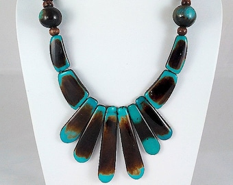 Tribal Necklace with wooden beads