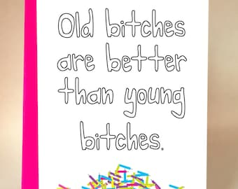 Birthday Girl Funny Card Friend Mom Aunt Sister Sarcastic C 054
