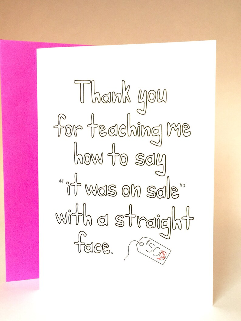 Mothers Day Mom Card Funny Greeting Birthday