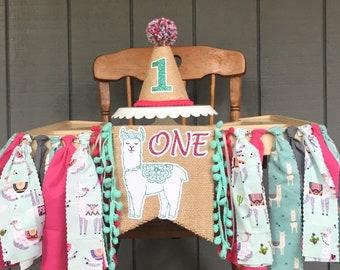 Llama High Chair Banner