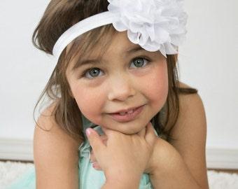 White flower headband etsy mightylinksfo
