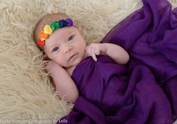 Rainbow baby headband rainbow baby hair band rainbow  d0e76ce024f