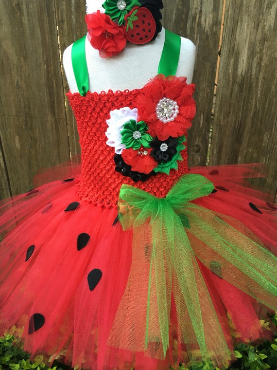 Strawberry tutu dress strawberry costume halloween costume | Etsy
