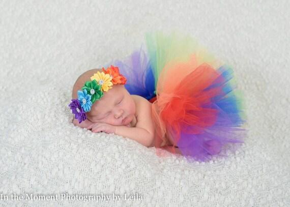 Rainbow tutu rainbow baby tutu rainbow headband infant  e74d99d872a