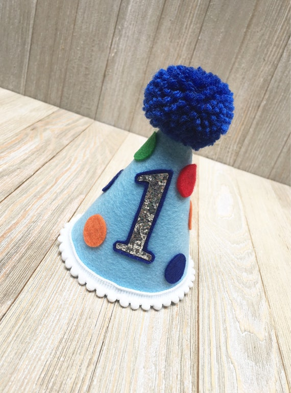 Boys First Birthday Hat 1st Party Half
