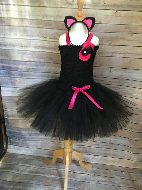 Katze Kostüm schwarze Katze Tutu Katze-Kleid Mädchen | Etsy