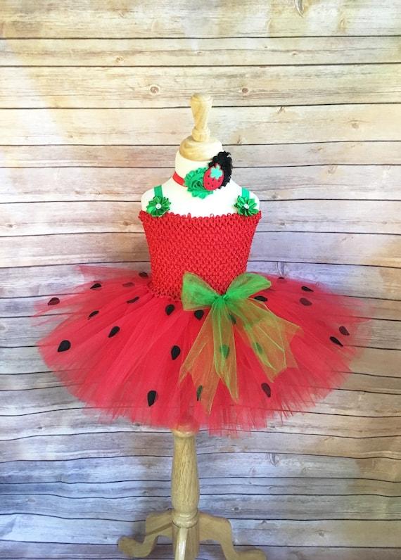 Strawberry costume strawberry tutu halloween costume | Etsy