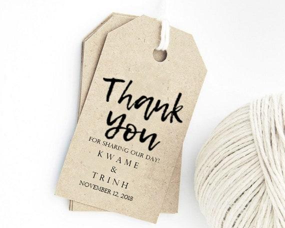 Wedding Favor Tag Template Thank You Tags Custom Gift