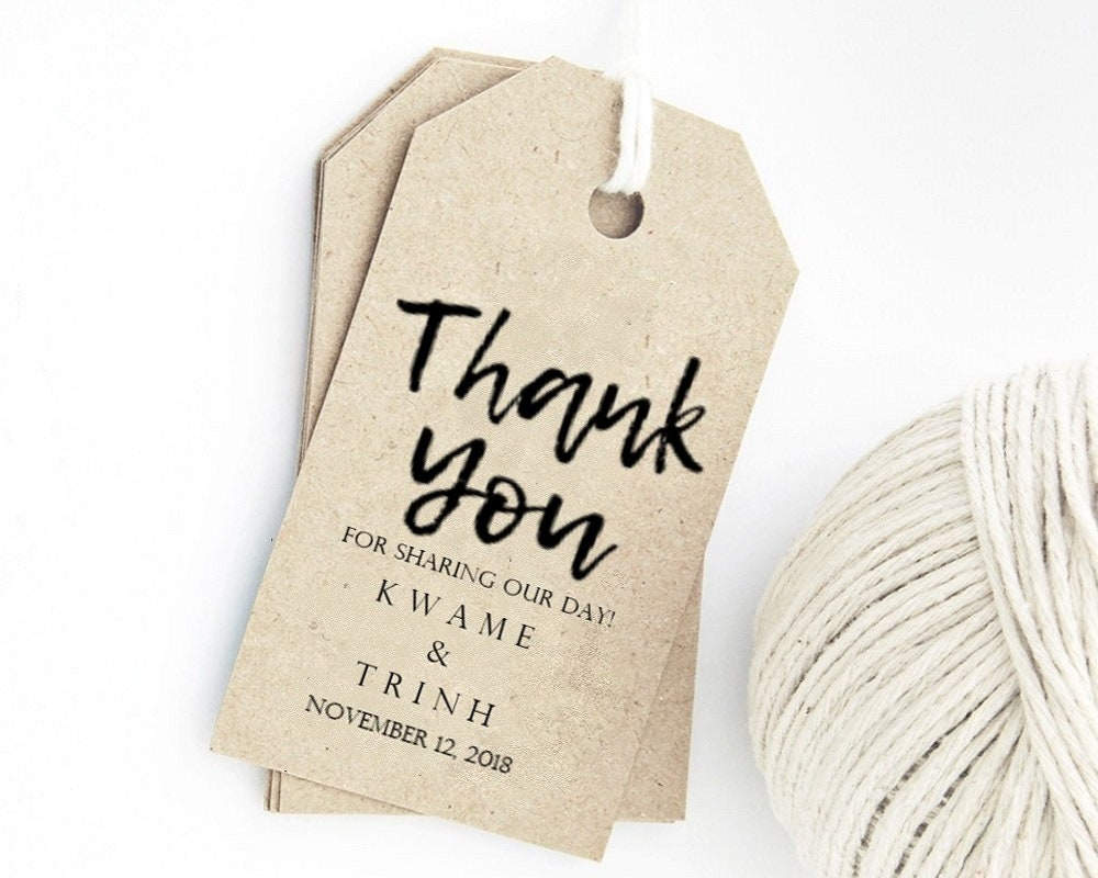 Wedding Favor Tag Template Thank You Tags Custom Gift Tags Etsy