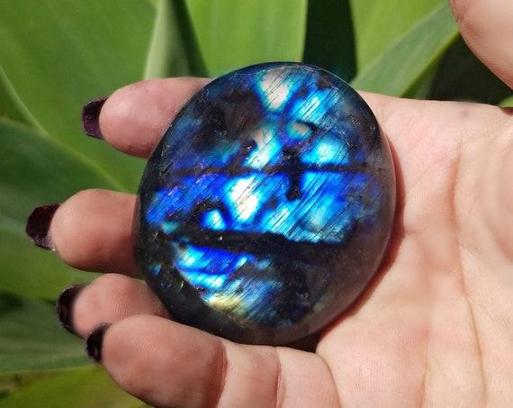 Blue Labradorite Protective Palm Stone