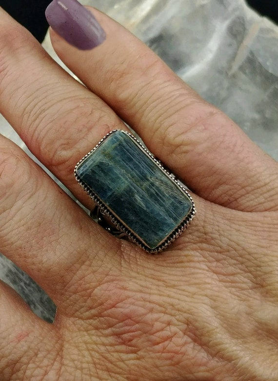 Kyanite Statement Ring - Size 6.75 - 925 Silver