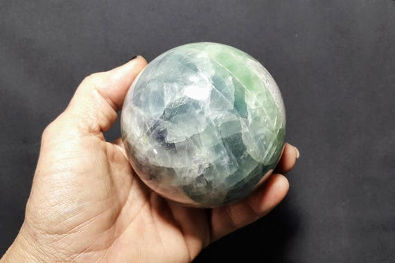 Large Rainbow Fluorite Sphere