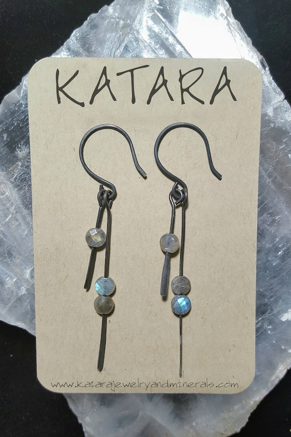 Hypo Allergenic Stainless Steel Labradorite Earrings - Or choose other stones!