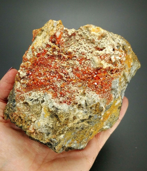 Large Vandanite Crystal Cluster on Matrix from Morocco