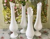 Milk Glass Vases for Wedding Centerpiece Vases Tall Vases for Centerpiece White Vases Party Centerpiece Swung Vase White Flower Vase Vintage