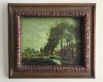 antique wood picture frames. Wood Frame Vintage Picture Landscape Art Framed  Wall Antique Old Frames Decorative Antique Wood Picture Frames
