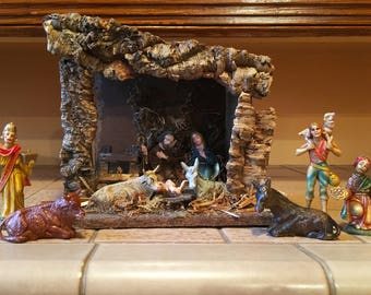 nativity set manger creche christmas decorations nativity scene vintage christmas nativity figurines christmas decor religious decor jesus - Jesus Christmas Decorations