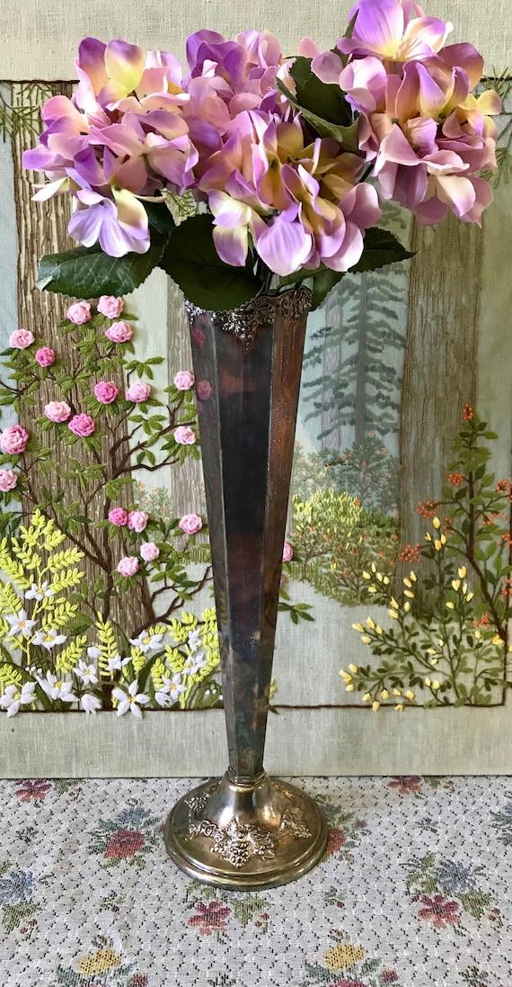 Silver Vase For Centerpiece Silver Vase Large Vase For Wedding Etsy